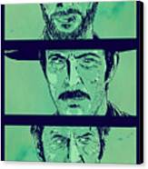 The Good The Bad And The Ugly Canvas Print by Giuseppe Cristiano
