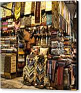 The Grand Bazaar In Istanbul Turkey Canvas Print by David Smith