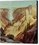 The Grand Canyon Of The Yellowstone Canvas Print by Thomas Moran