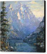 The Grand Tetons And Jenny Lake Canvas Print by Lewis A Ramsey