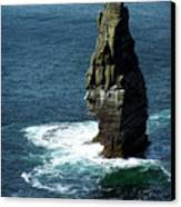 The Great Sea Stack Brananmore Cliffs Of Moher Ireland Canvas Print
