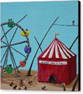 The Greatest Show On Fido Canvas Print by Kerri Ertman