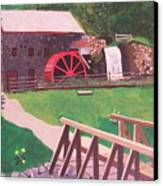 The Gristmill At Wayside Inn Canvas Print by William Demboski