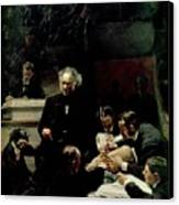 The Gross Clinic Canvas Print by Thomas Cowperthwait Eakins