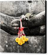 The Hand Of Buddha Canvas Print by Adrian Evans