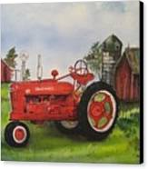 The Hansen Tractor Canvas Print by Kendra Sorum