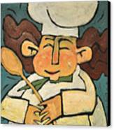 The Happy Chef Canvas Print