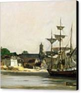 The Harbour At Honfleur Canvas Print by Karl Pierre Daubigny
