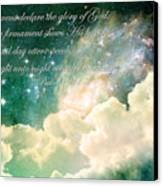 The Heavens Declare Canvas Print by Stephanie Frey