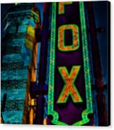 The Historic Fox Theatre Canvas Print by Kelly Rader