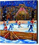 The Hockey Rink Canvas Print