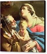 The Holy Family Canvas Print by Gaetano Gandolfi