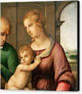 The Holy Family Canvas Print by Raphael