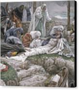 The Holy Virgin Receives The Body Of Jesus Canvas Print by Tissot