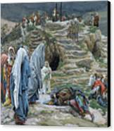 The Holy Women Stand Far Off Beholding What Is Done Canvas Print by James Jacques Joseph Tissot