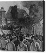 The Homestead Steel Strike Riot Canvas Print by Everett