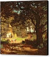 The House In The Woods Canvas Print by Albert Bierstadt