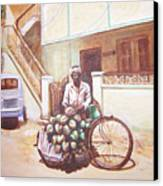 The Indian Tendor-coconut Vendor Canvas Print