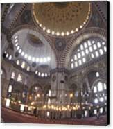 The Interior Of The Suleymaniye Mosque Canvas Print by Richard Nowitz