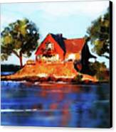 The Island House Canvas Print