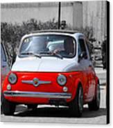 The Italian Small Car Canvas Print by Alessandro Matarazzo