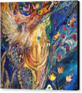 The Keeper Of Menorah Canvas Print by Elena Kotliarker