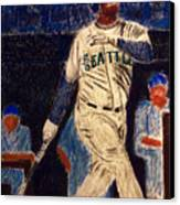 The Kid Feat Ken Griffey Jr Canvas Print by D Rogale