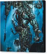 The Kraken Canvas Print by Paul Davidson