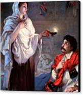 The Lady With The Lamp, Florence Canvas Print by Science Source