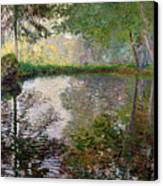The Lake At Montgeron Canvas Print by Claude Monet