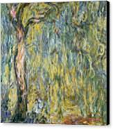 The Large Willow At Giverny Canvas Print