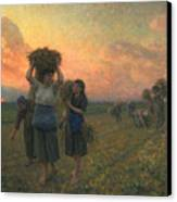 The Last Gleanings Canvas Print by Jules Breton