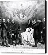 The Last Moments Of President Lincoln Canvas Print by Photo Researchers