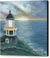 The Lighthouse Canvas Print by Nadine Rippelmeyer