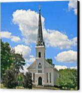 The Little Country Church Canvas Print