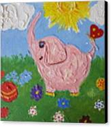 Little Pink Elephant Canvas Print