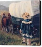 The Little Pioneer Western Art Canvas Print by Kim Corpany