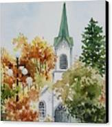 The Little White Church Canvas Print by Bobbi Price
