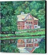 The Lodge At Peaks Of Otter Canvas Print by Kendall Kessler