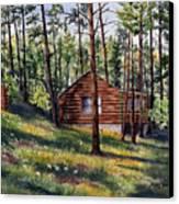 The Log Cabin Canvas Print