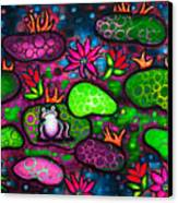 The Lonesome Frog II Canvas Print by Brenda Higginson