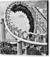 The Loop Black And White Canvas Print