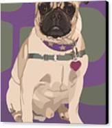 The Love Pug Canvas Print by Kris Hackleman