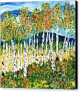 The Magical Aspen Forest Canvas Print by Christy Woodland