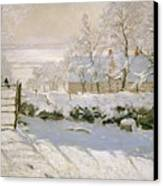 The Magpie Canvas Print by Claude Monet