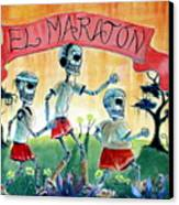 The Marathon Canvas Print by Heather Calderon