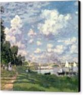 The Marina At Argenteuil Canvas Print by Claude Monet