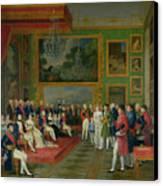 The Marriage Of Eugene De Beauharnais Canvas Print by Francois Guillaume Menageot