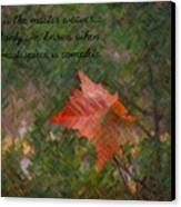 The Master Weaver Canvas Print