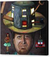 The Mechanic Part Of The Thinking Cap Series Canvas Print by Leah Saulnier The Painting Maniac